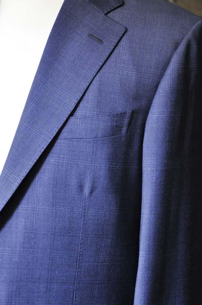 DSC0513-2 お客様のスーツの紹介- Biellesi ネイビーチェックスーツ-