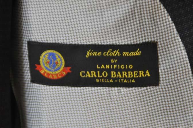 DSC0513-3 お客様のスーツの紹介- CARLO BARBERAネイビーグレーチェック スリーピース-