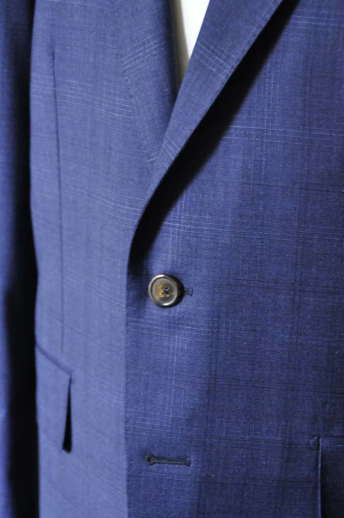 DSC0514-2 お客様のスーツの紹介- Biellesi ネイビーチェックスーツ-