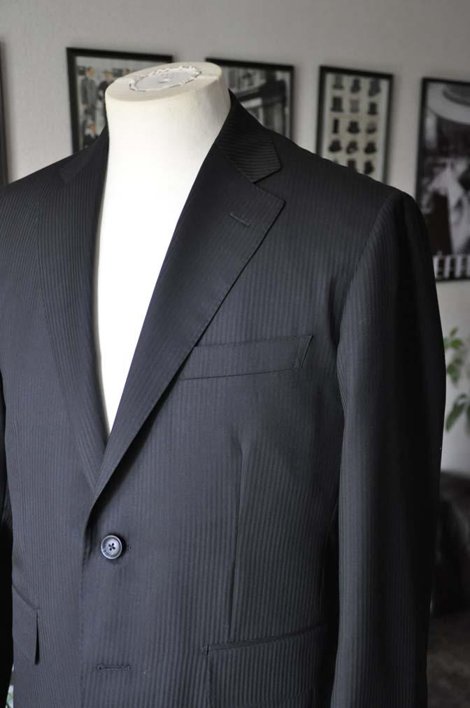 DSC05141 お客様のスーツの紹介-CANONICO ブラックヘリンボーン-