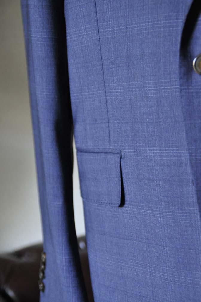 DSC0515-1 お客様のスーツの紹介- Biellesi ネイビーチェックスーツ-