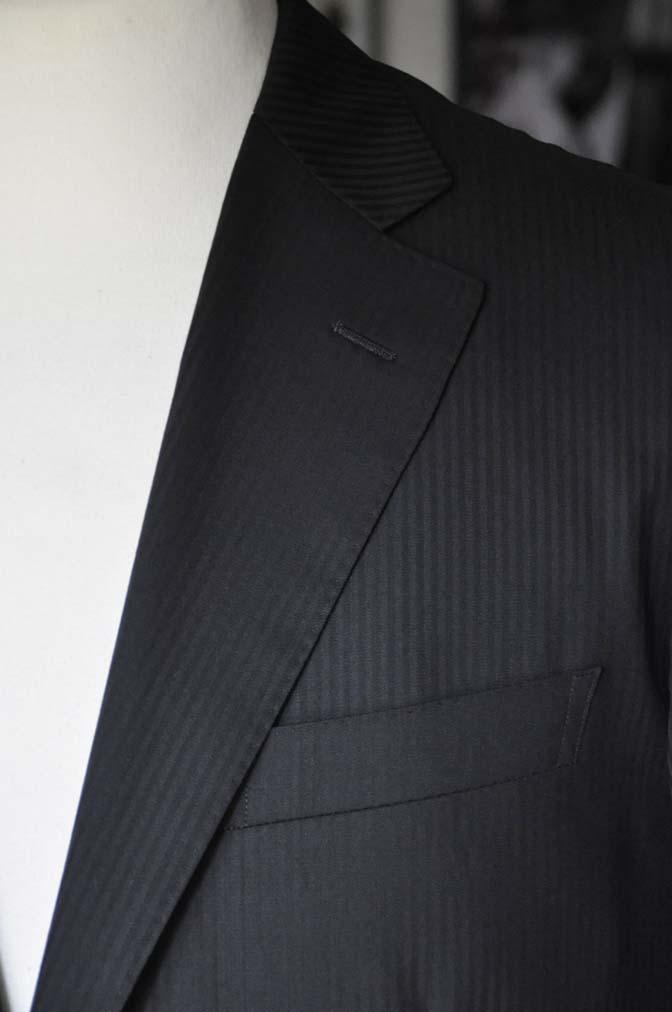 DSC05151 お客様のスーツの紹介-CANONICO ブラックヘリンボーン-