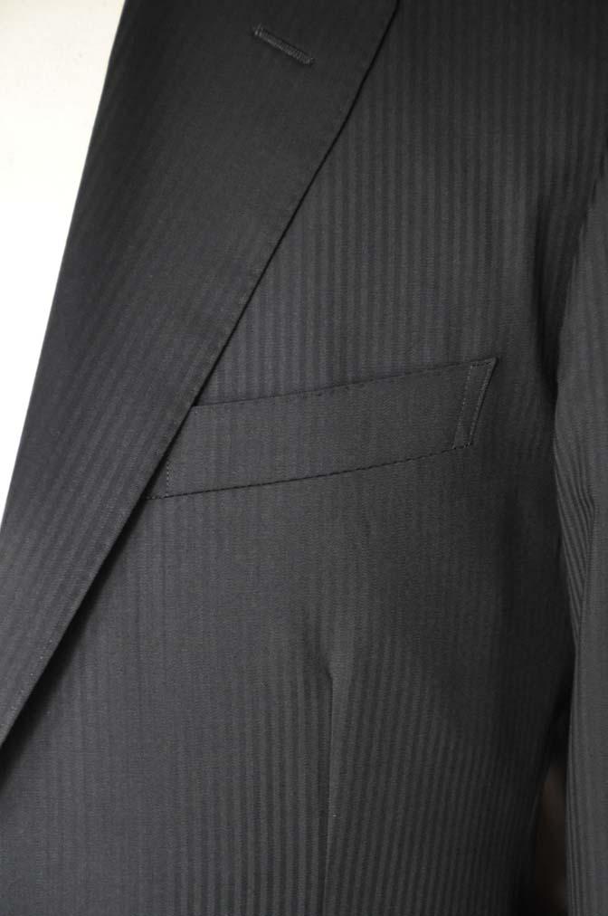 DSC05162 お客様のスーツの紹介-CANONICO ブラックヘリンボーン-