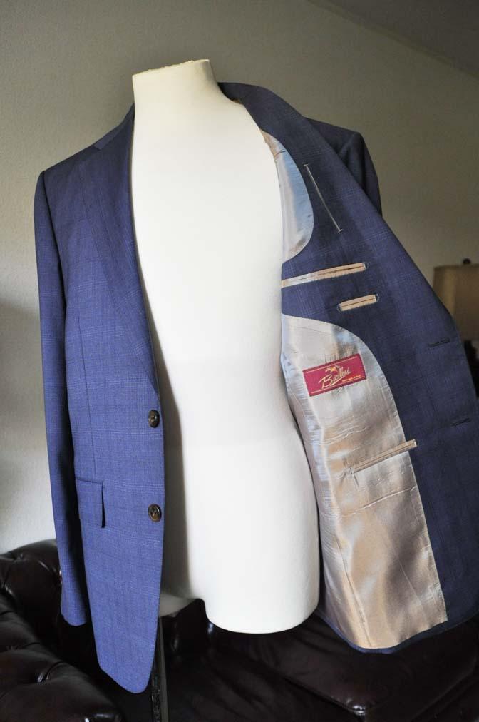 DSC0517-2 お客様のスーツの紹介- Biellesi ネイビーチェックスーツ-