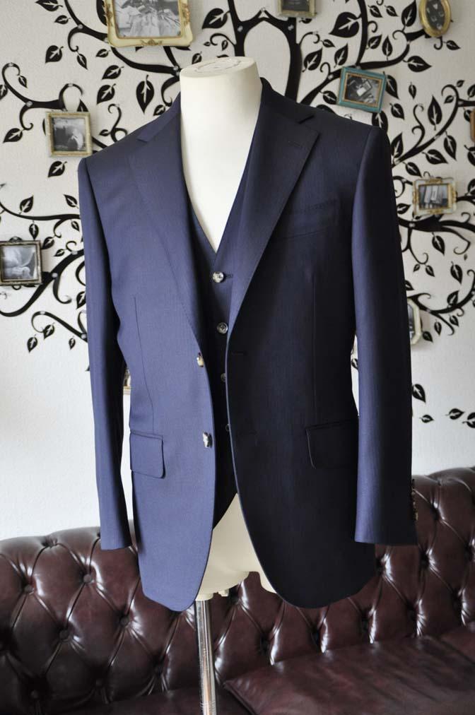 DSC0517-3 お客様のスーツの紹介-Biellesiネイビーヘリンボーン  スリーピーススーツ-