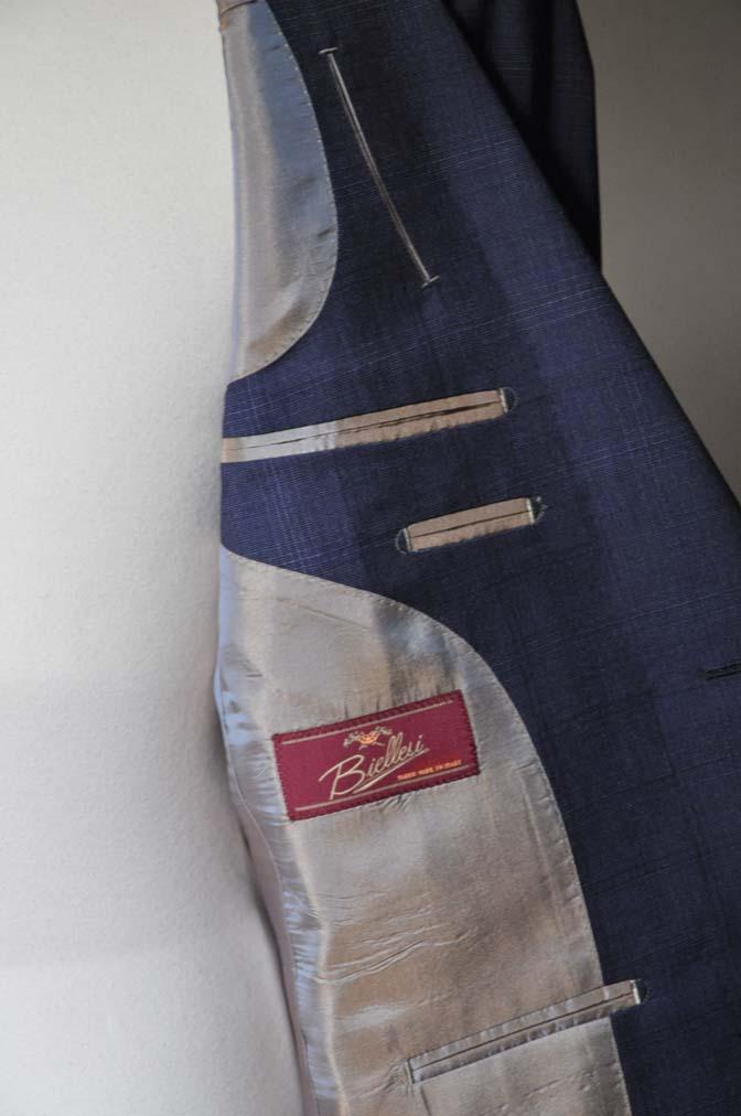 DSC0518-2 お客様のスーツの紹介- Biellesi ネイビーチェックスーツ-