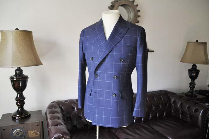 DSC0518-4 お客様のスーツの紹介-ネイビーウィンドペン ダブルスーツ-