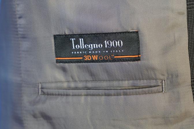 DSC05180 オーダースーツの紹介-Tollegnoブラウングレンチェックスーツ-