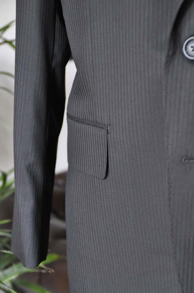 DSC05181 お客様のスーツの紹介-CANONICO ブラックヘリンボーン-