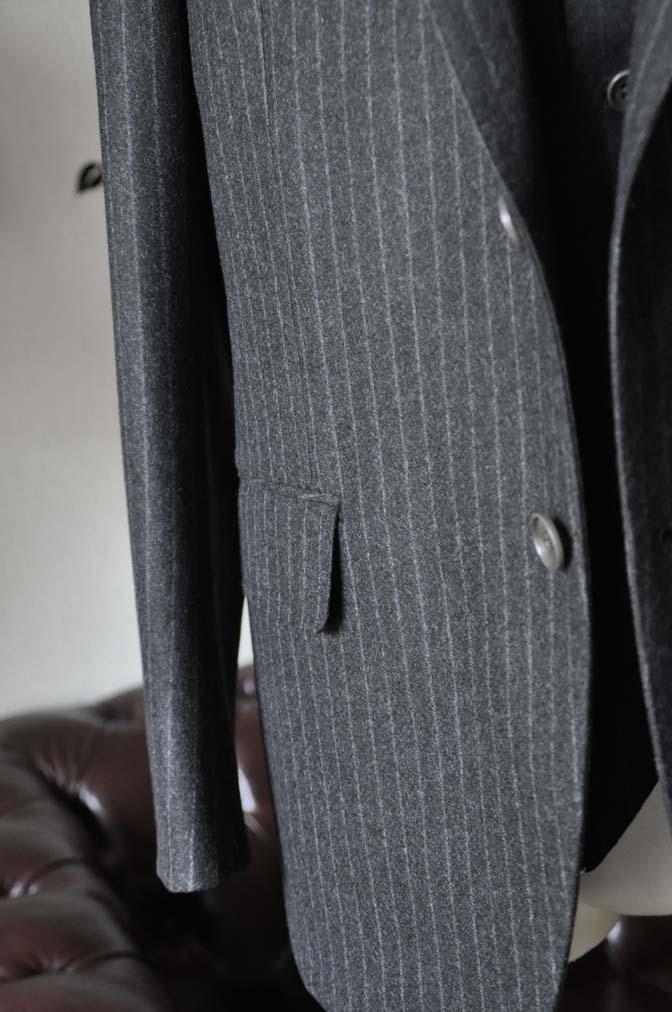 DSC0519-3 お客様のスーツの紹介-DORMEUIL British Collectionグレーフランネルスリーピース-