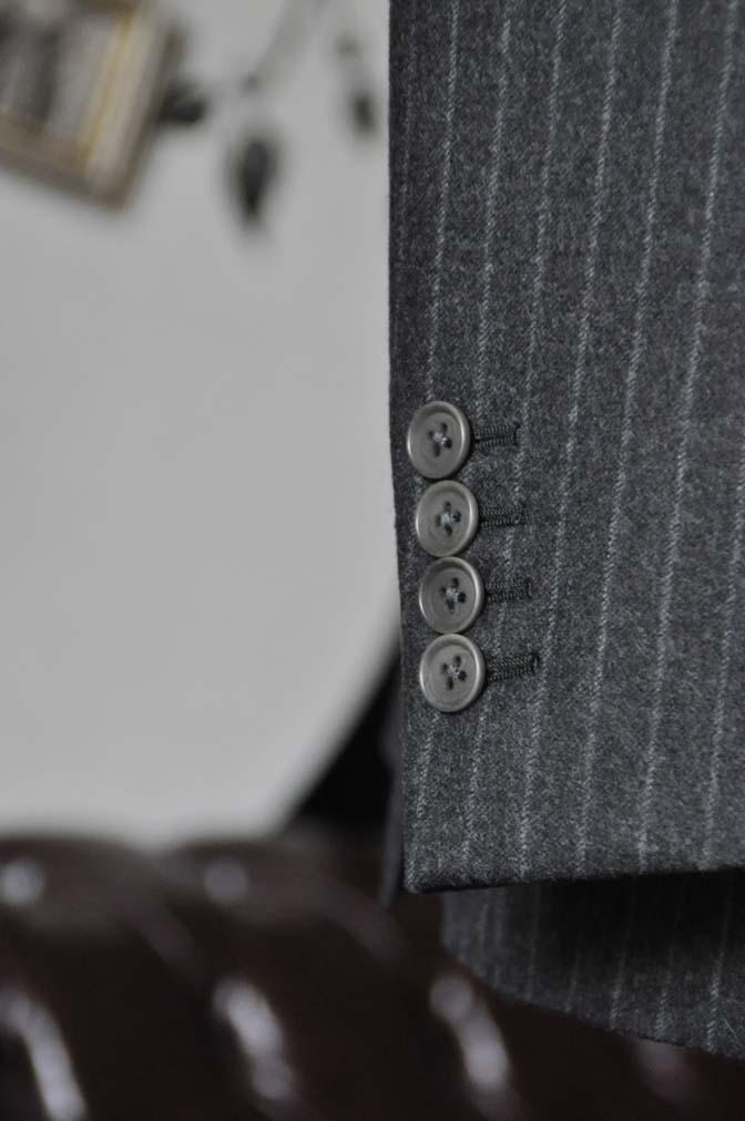 DSC0520-3 お客様のスーツの紹介-DORMEUIL British Collectionグレーフランネルスリーピース-