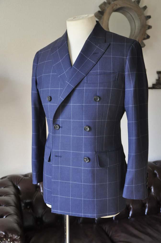 DSC0521-4 お客様のスーツの紹介-ネイビーウィンドペン ダブルスーツ-
