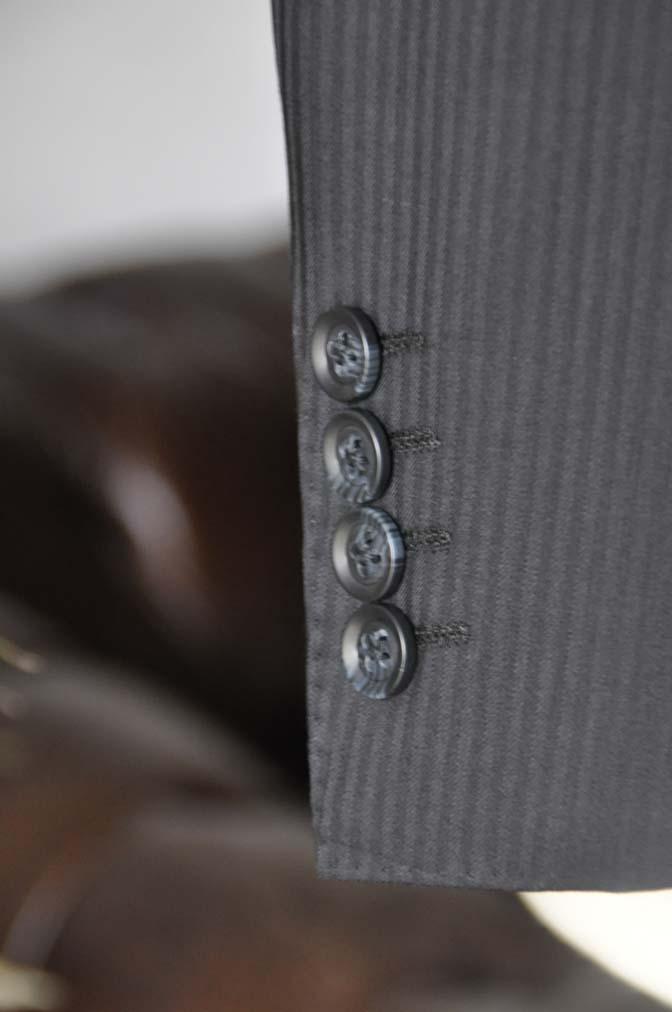 DSC05211 お客様のスーツの紹介-CANONICO ブラックヘリンボーン-