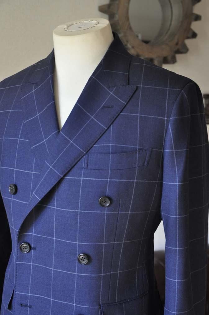DSC0523-1 お客様のスーツの紹介-ネイビーウィンドペン ダブルスーツ-