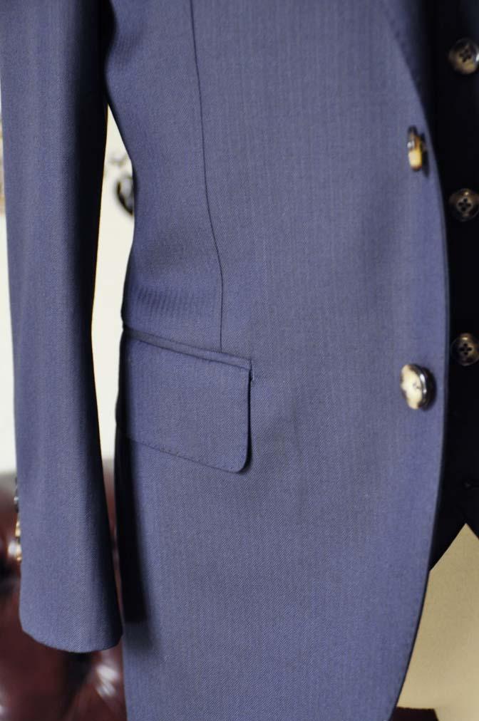 DSC0523-2 お客様のスーツの紹介-Biellesiネイビーヘリンボーン  スリーピーススーツ-