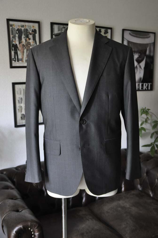 DSC05243 お客様のスーツの紹介-Biellesi グレーストライプ- 名古屋の完全予約制オーダースーツ専門店DEFFERT