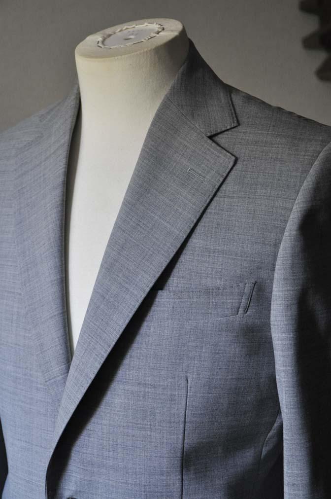 DSC0525-1 お客様のスーツの紹介-ライトグレースーツ- 名古屋の完全予約制オーダースーツ専門店DEFFERT