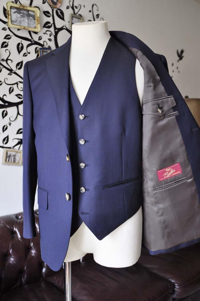 DSC0525-3 お客様のスーツの紹介-Biellesiネイビーヘリンボーン  スリーピーススーツ-