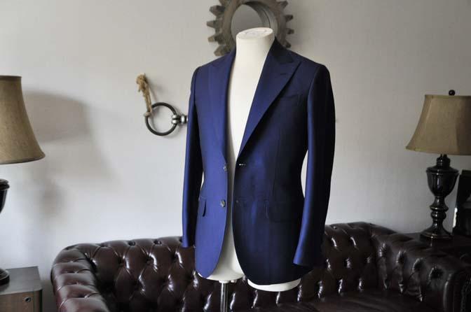 DSC0526-1 お客様のスーツの紹介- Biellesi ネイビーバーズアイ-