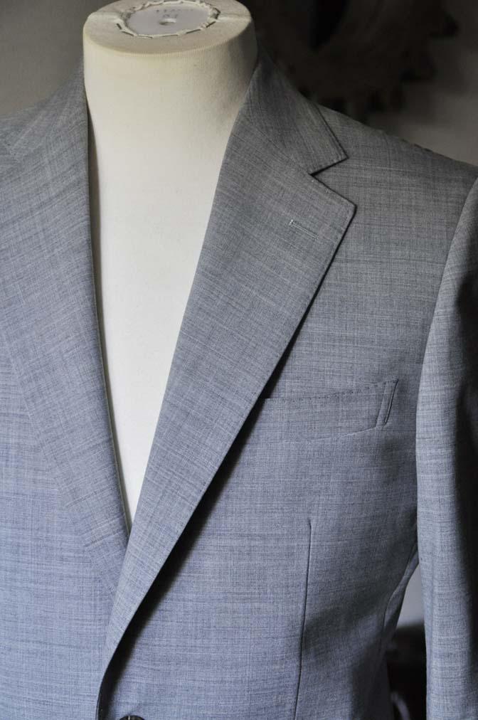 DSC0526-2 お客様のスーツの紹介-ライトグレースーツ- 名古屋の完全予約制オーダースーツ専門店DEFFERT