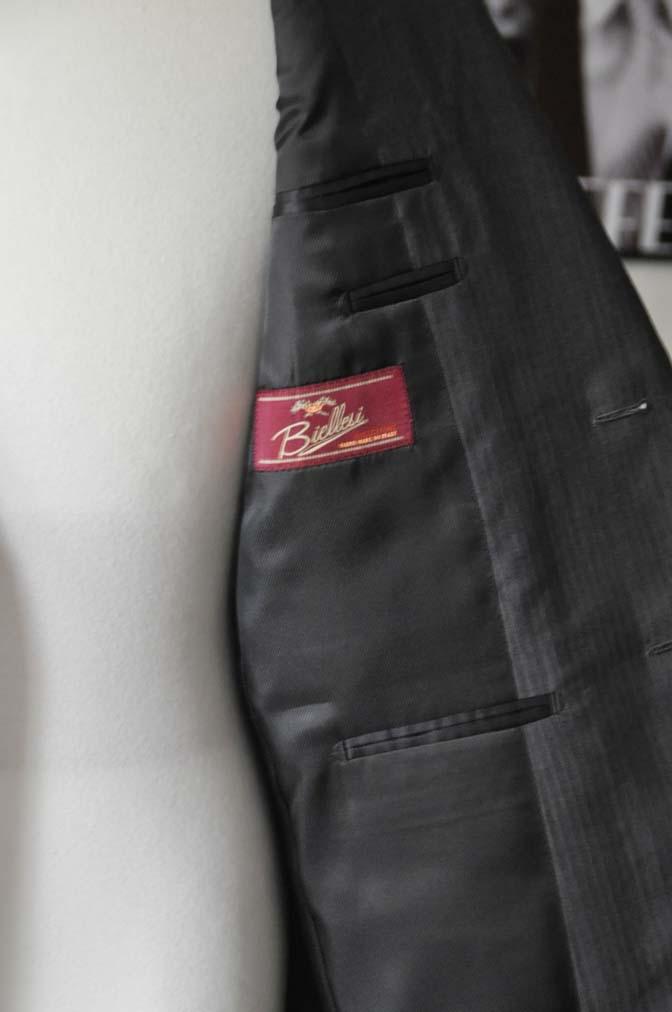 DSC05263 お客様のスーツの紹介-Biellesi グレーストライプ- 名古屋の完全予約制オーダースーツ専門店DEFFERT
