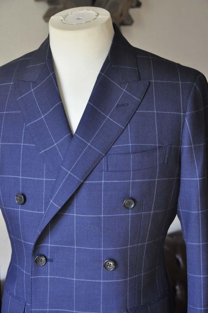 DSC0527-3 お客様のスーツの紹介-ネイビーウィンドペン ダブルスーツ-