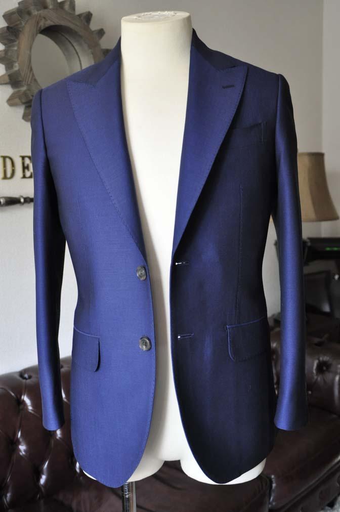 DSC0528-1 お客様のスーツの紹介- Biellesi ネイビーバーズアイ- 名古屋の完全予約制オーダースーツ専門店DEFFERT