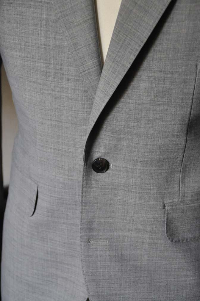 DSC0528-2 お客様のスーツの紹介-ライトグレースーツ- 名古屋の完全予約制オーダースーツ専門店DEFFERT