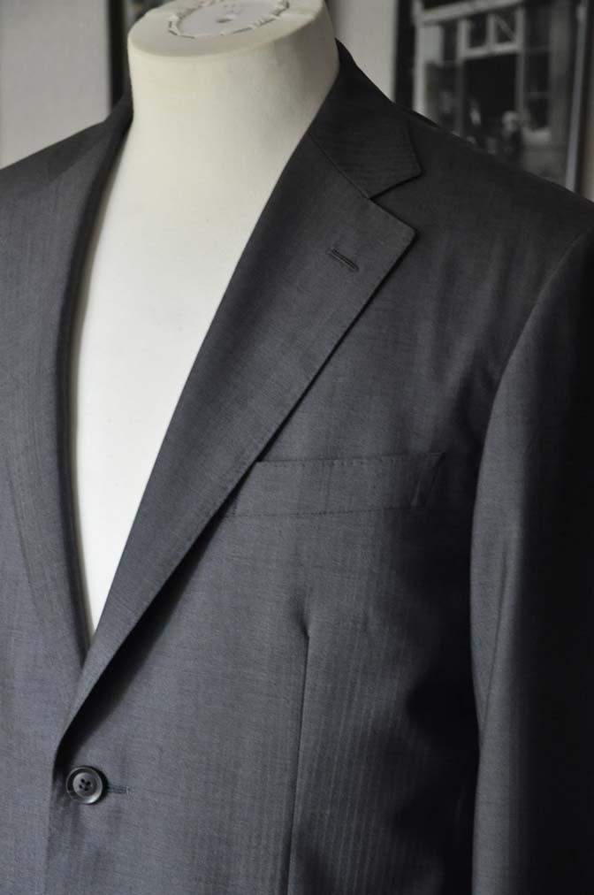DSC05284 お客様のスーツの紹介-Biellesi グレーストライプ- 名古屋の完全予約制オーダースーツ専門店DEFFERT