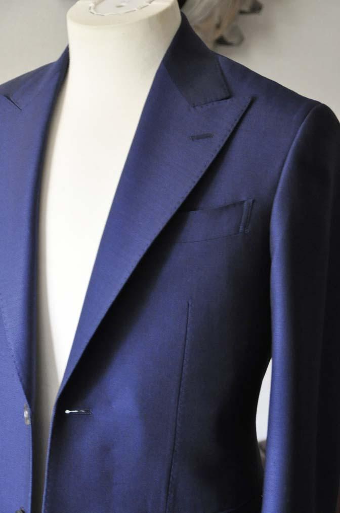 DSC0529-1 お客様のスーツの紹介- Biellesi ネイビーバーズアイ- 名古屋の完全予約制オーダースーツ専門店DEFFERT
