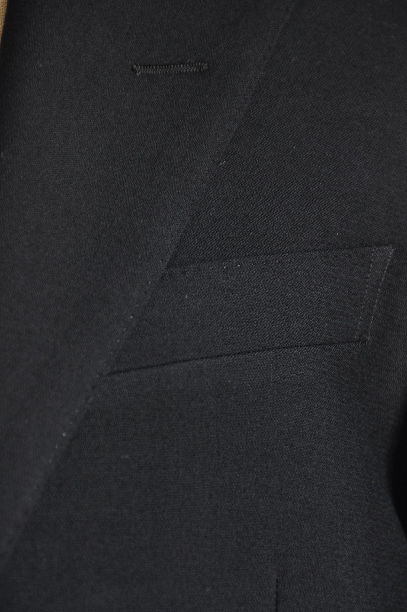 DSC0529 オーダースーツ- ブラックスリーピーススーツ-