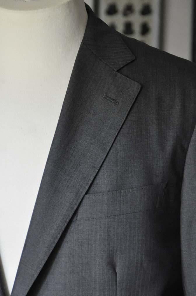 DSC05293 お客様のスーツの紹介-Biellesi グレーストライプ- 名古屋の完全予約制オーダースーツ専門店DEFFERT