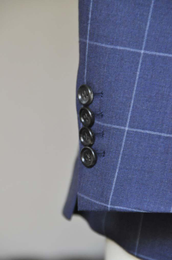 DSC0532-3 お客様のスーツの紹介-ネイビーウィンドペン ダブルスーツ-