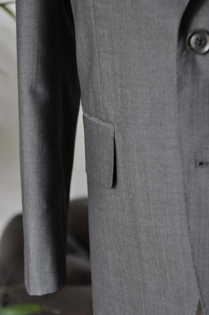 DSC05323 お客様のスーツの紹介-Biellesi グレーストライプ- 名古屋の完全予約制オーダースーツ専門店DEFFERT
