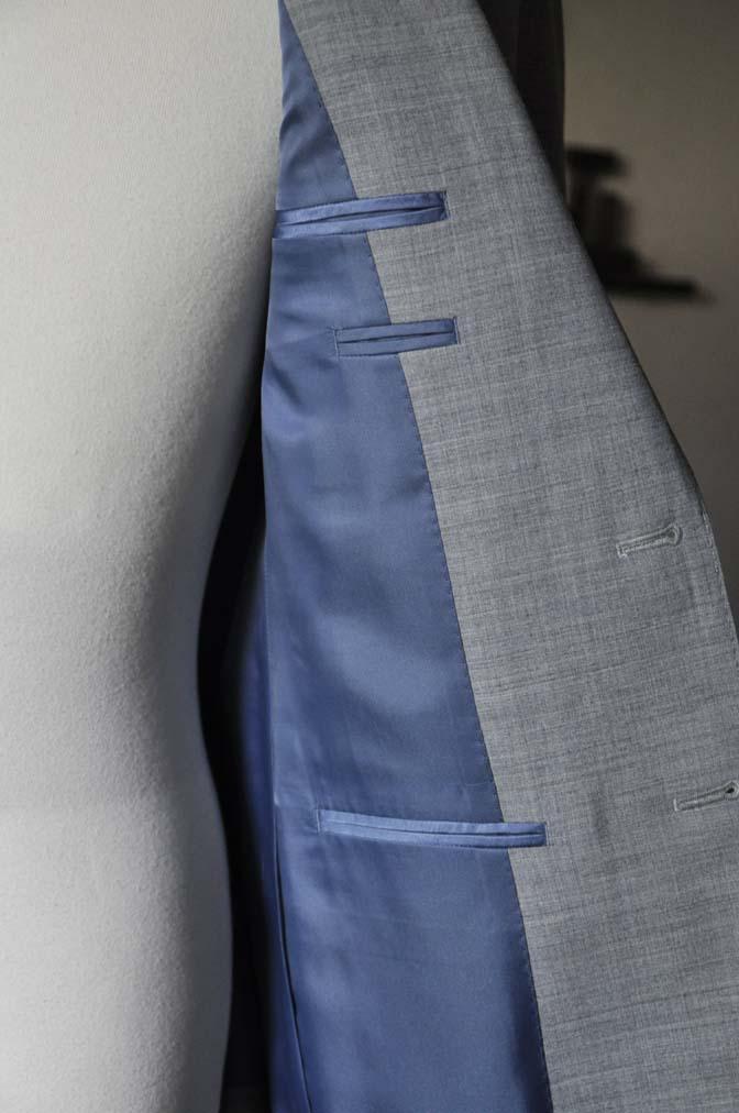 DSC0533-2 お客様のスーツの紹介-ライトグレースーツ- 名古屋の完全予約制オーダースーツ専門店DEFFERT