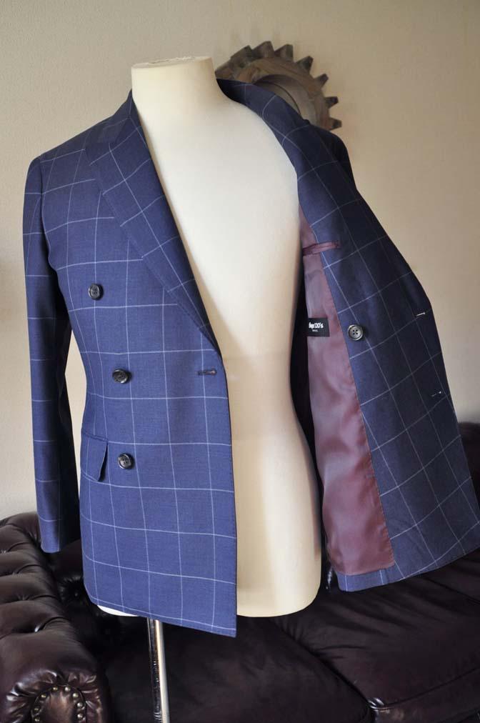 DSC0533-4 お客様のスーツの紹介-ネイビーウィンドペン ダブルスーツ-