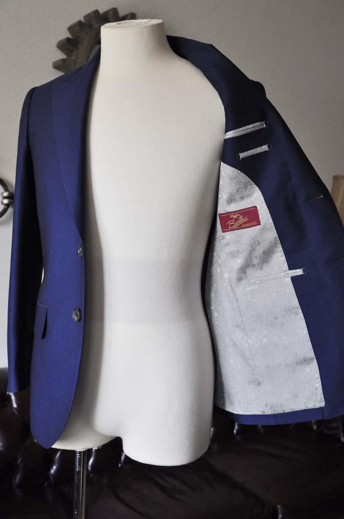 DSC0534-1 お客様のスーツの紹介- Biellesi ネイビーバーズアイ- 名古屋の完全予約制オーダースーツ専門店DEFFERT