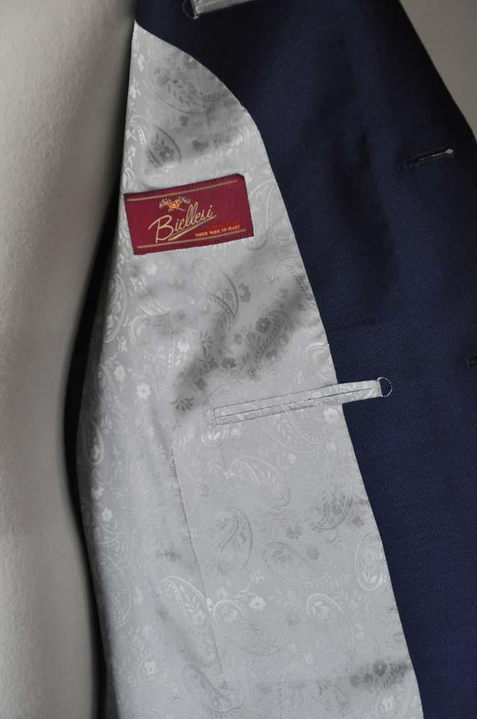DSC0535-1 お客様のスーツの紹介- Biellesi ネイビーバーズアイ- 名古屋の完全予約制オーダースーツ専門店DEFFERT