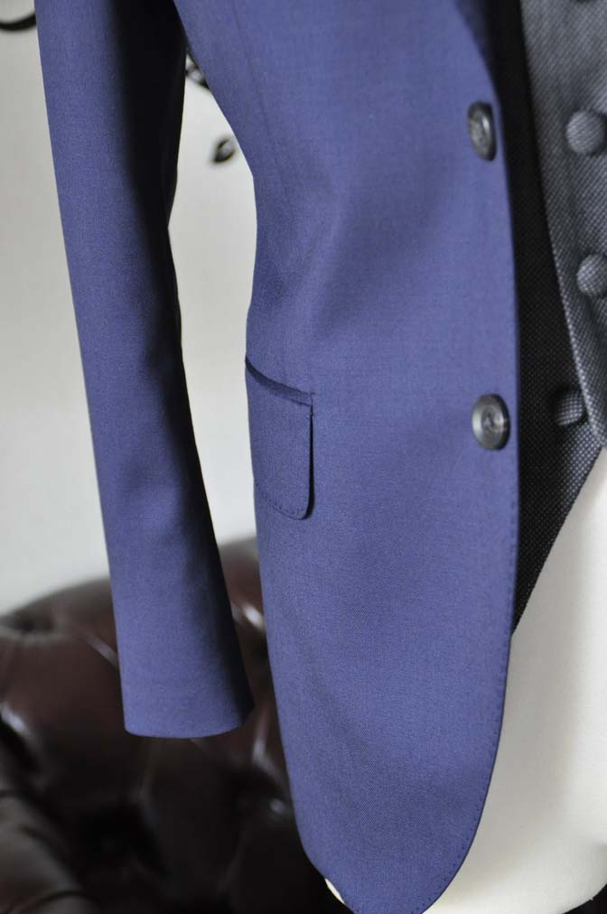 DSC0538-3 お客様のウエディング衣装の紹介- Biellesiネイビースーツ グレーバーズアイベスト- 名古屋の完全予約制オーダースーツ専門店DEFFERT