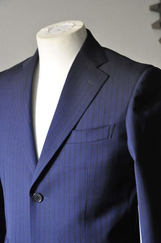 DSC0539-1 お客様のスーツの紹介- Biellesi ネイビーストライプ-