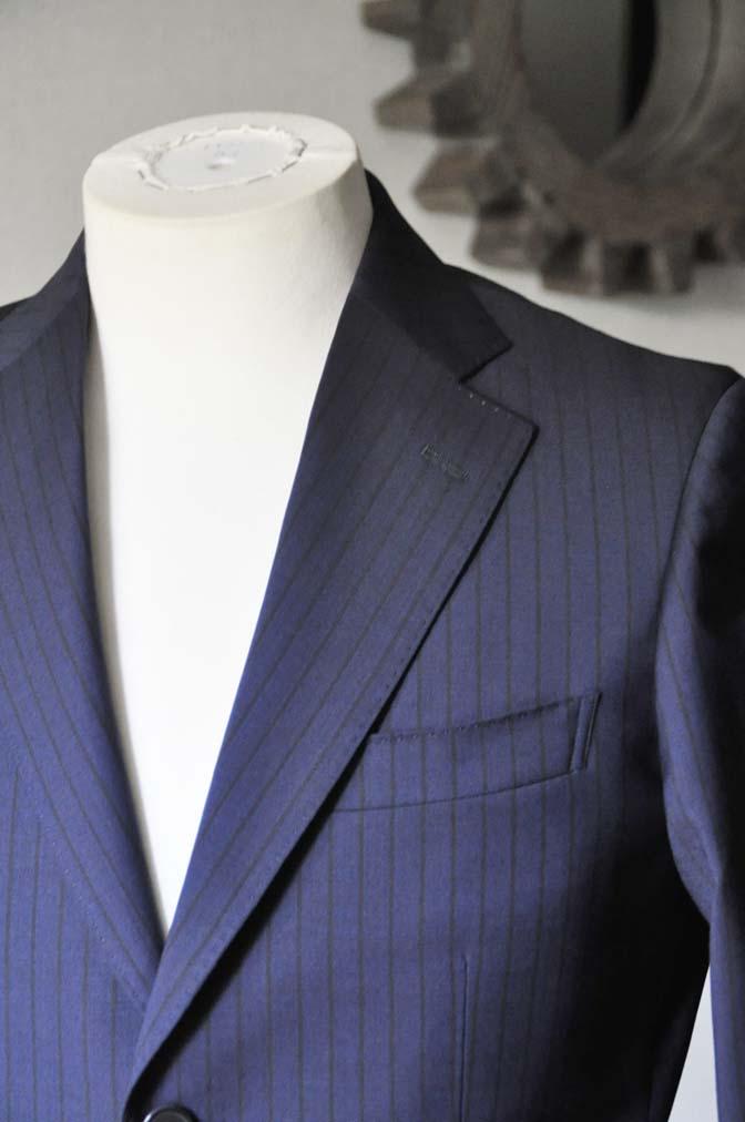 DSC0540-1 お客様のスーツの紹介- Biellesi ネイビーストライプ-