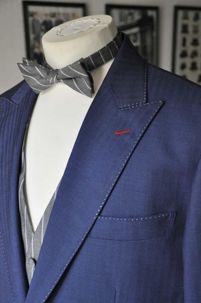 DSC05401 お客様のウエディング衣装の紹介-Biellesiネイビーヘリンボーン-