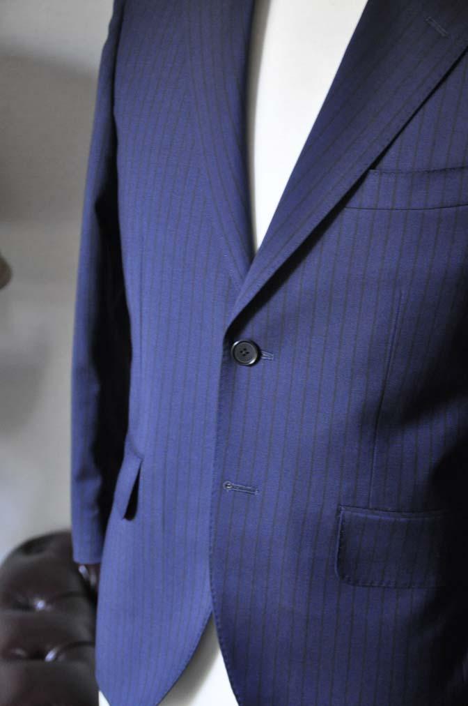 DSC0542-1 お客様のスーツの紹介- Biellesi ネイビーストライプ-