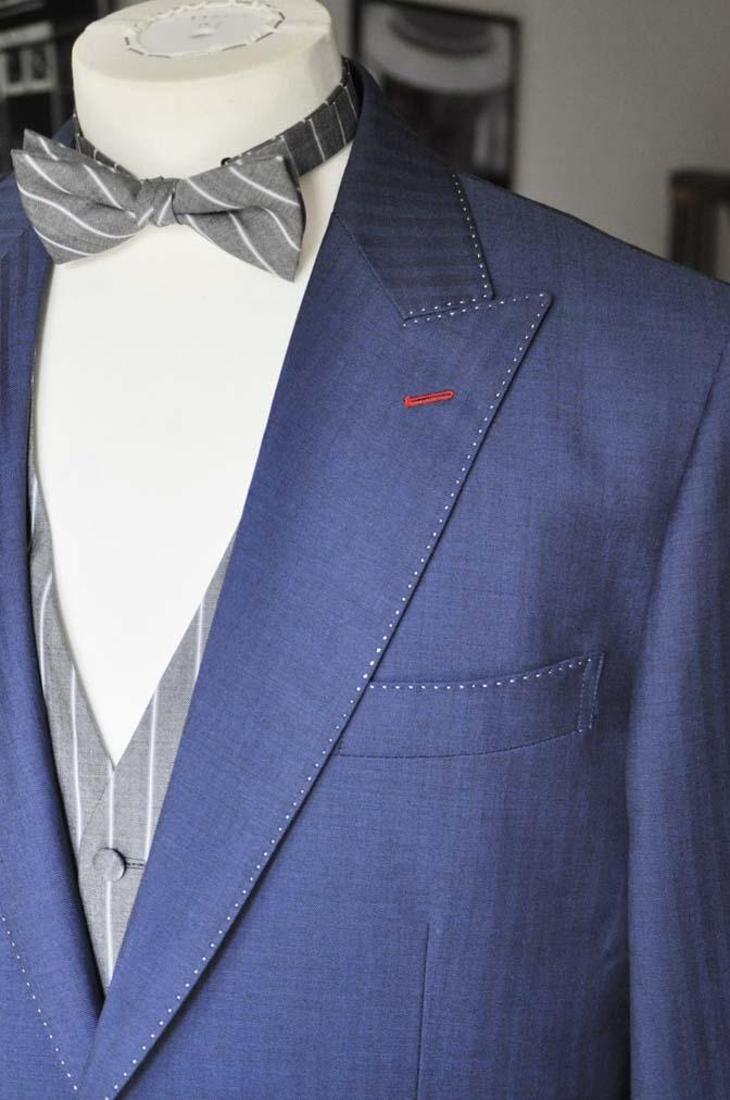 DSC05421 お客様のウエディング衣装の紹介-Biellesiネイビーヘリンボーン-