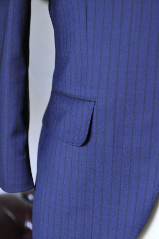 DSC0543-1 お客様のスーツの紹介- Biellesi ネイビーストライプ-
