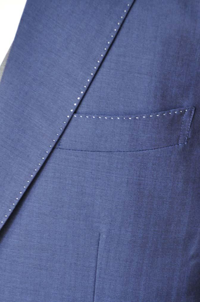 DSC05431 お客様のウエディング衣装の紹介-Biellesiネイビーヘリンボーン-