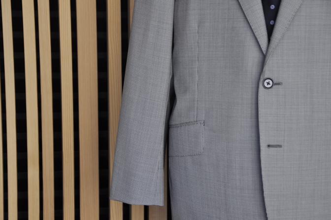 DSC0544-3 オーダースーツの紹介-Biellesi グレー千鳥格子スーツ-
