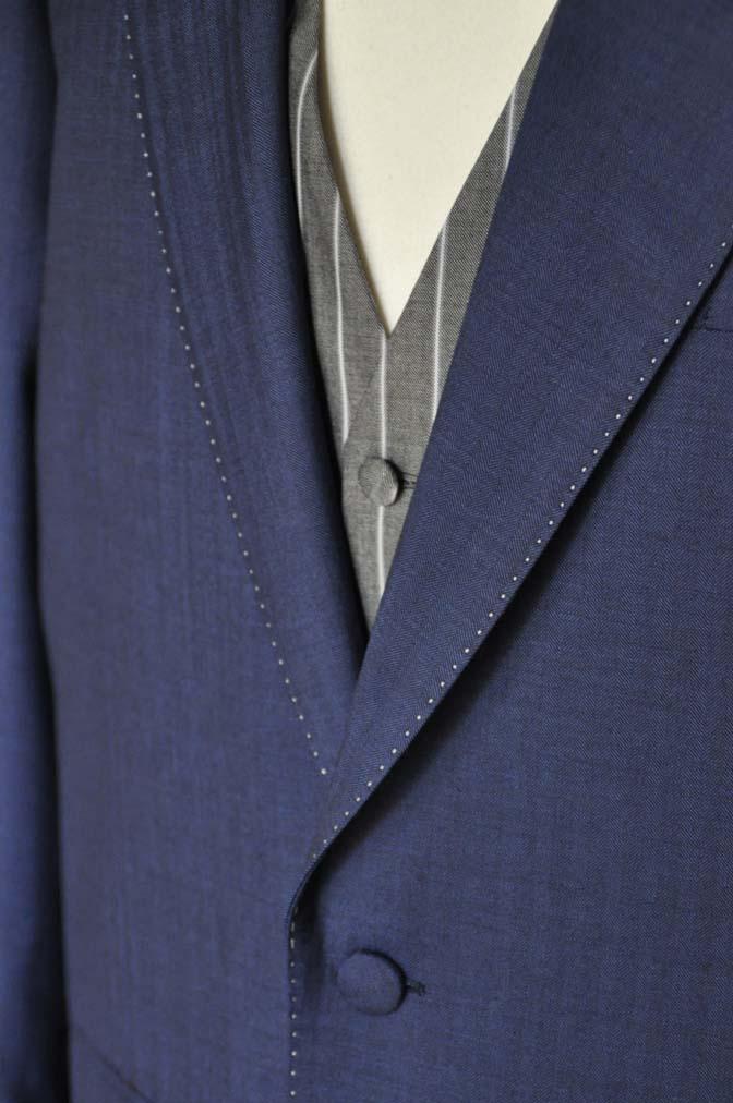 DSC05442 お客様のウエディング衣装の紹介-Biellesiネイビーヘリンボーン-
