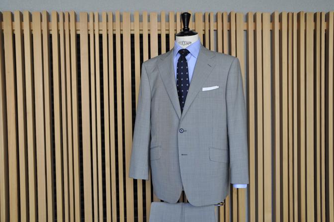 DSC0545-2 オーダースーツの紹介-Biellesi グレー千鳥格子スーツ-