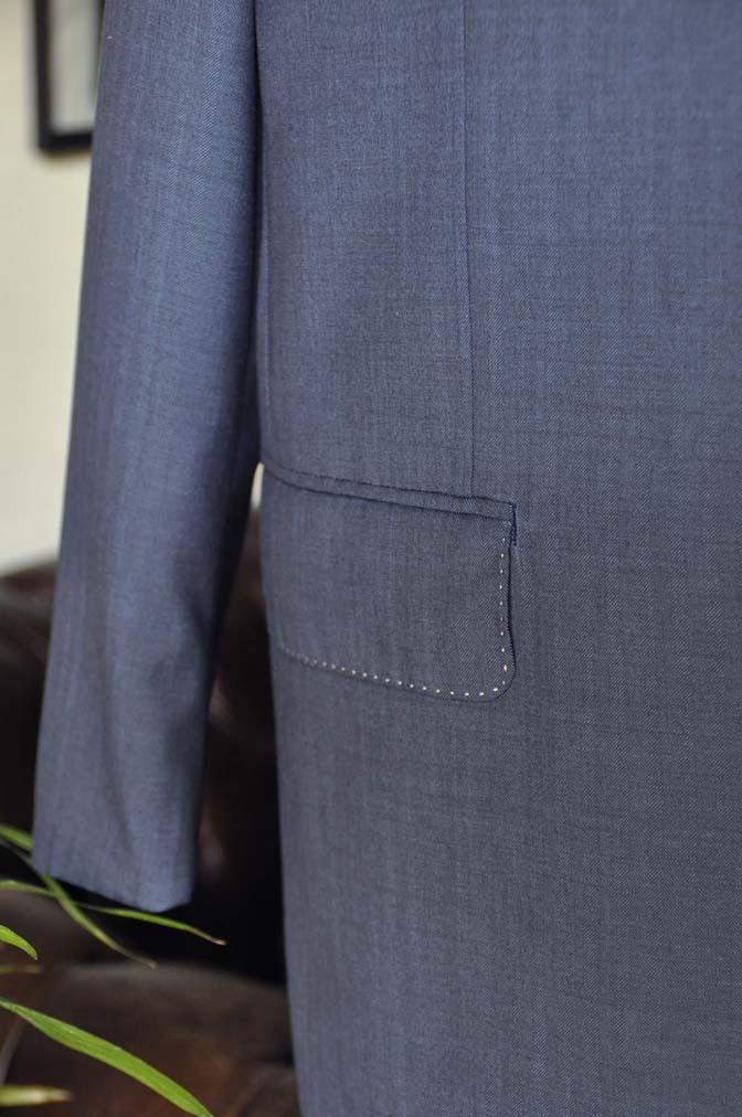 DSC05471 お客様のウエディング衣装の紹介-Biellesiネイビーヘリンボーン-